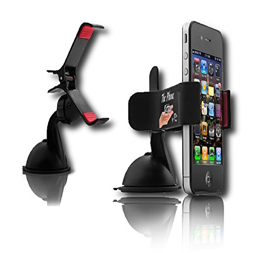 #1 Car Phone Mount - Universal Iphone Android Ipad Cradle Holder Converts Phones To A Dash Cam Personal Assistant Portable Dvd Mobile Office Gps Recording Studio And Mommy Extra Hand - Hands Free Strong No Slip Suction Works On Windshield/ Dashboard -From