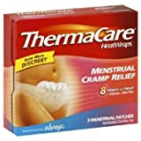 Thermacare Heat Wraps Menstrual Cramp Relief 3 ea