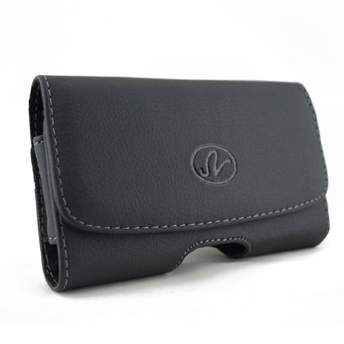 """Apple iPhone 6 Case - New Horizontal Black Leather Holster Pouch Carry Case with Belt Clip for Apple iPhone 6 4.7"""""""
