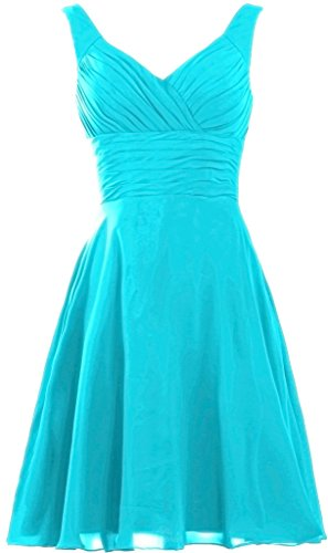 ANTS Women's Pleated Sweetheart Bridesmaid Dresses A Line Cocktail Gown Size 12