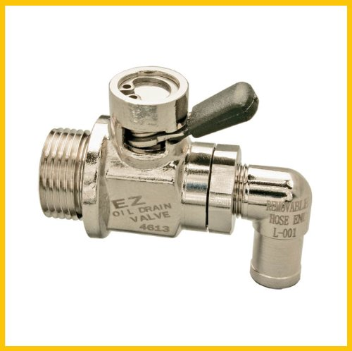 Ez-103 Ez Oil Drain Valve With Removable L-Shape Hose End Combo