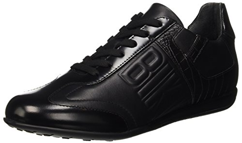 Bikkembergs R-Evolution 331 Shoe M Leather, Scarpe Low-Top Uomo, Nero (Croco Print Black), 43 EU