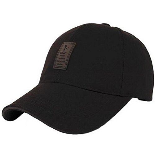 Ukerdo Uomo Solido Cotone Comodo Cappellini da Baseball Regolabile Sport Attrezzato Cappelli (E)