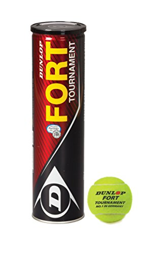 Dunlop DTB Turnierbälle Fort Tournament 4er, Gelb, One Size, 601202