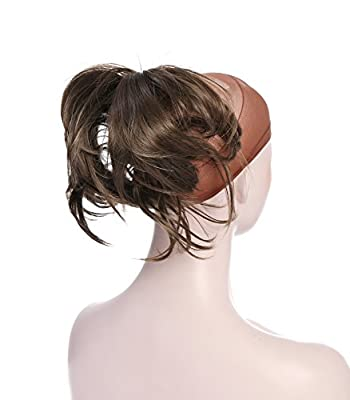 Onedor® 12 Inch Adjustable Messy Style Ponytail Hair Extension Synthetic Hair-Piece with Jaw Claw