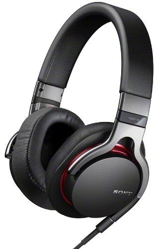 Sony MDR1RB Kopfhörer mit Mikrofonkabel für Apple iPod/iPhone/iPad schwarz