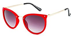 Rafa Round Sunglasses (Red) (81531RDGDGRY)