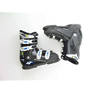 Nordica Used GPTJ Black with White Buckle Ski Boots Kid's Size 2