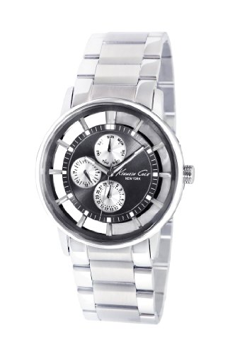 Kenneth Cole New York Men's KC9115 Transparency Black Dial Transparent Watch