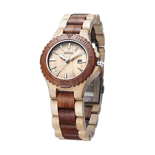 meku-womens-handcrafted-wood-wrist-watch-sandalwood-timepiece-elegant-wooden-wrist-watch-date-beige