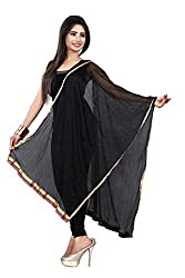 Jiya Prerents Stylish and Versatile Lycra Women's Dupatta(Black)