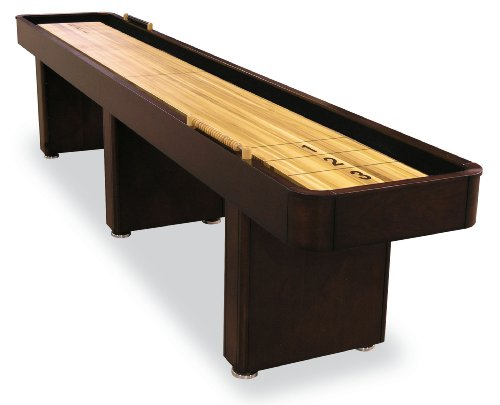 Review Of 12' Signature Shuffleboard Table with Butcher Block Playfield