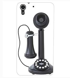ColourCraft Antique Telephone Design Back Case Cover for HTC DESIRE 626s