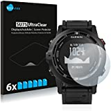 6x Screen Protector for Garmin fenix 2 Protection Film - Crystal-Clear, Bubble-Free