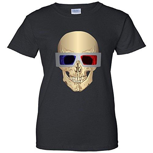 Skull 3D Glasses Women's T-Shirt