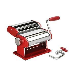 Red Pasta Maker Chrome Steel Pasta Machine Kitchen New