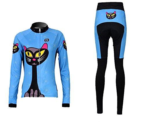 Weelly Life Cycling Bike Bicycle Jersey + Pants Set Women Lo