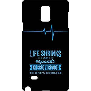 a AND b Designer Printed Mobile Back Cover / Back Case For Samsung Galaxy Note 4 (SG_N4_3D_2530)