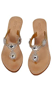 Mystique gold & diamond wedge sandals (7)