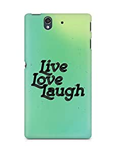 Amez Live Love Laugh Back Cover For Sony Xperia Z