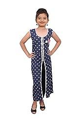 Titrit blue polka print cape dress without legging