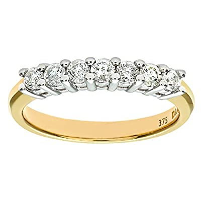 Ariel 9ct Yellow Gold Ladies Diamond Ring