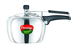 Prestige Apple Plus Induction Base Aluminium Pressure Cooker, 3 Litres