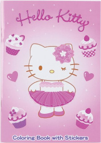 Hello Kitty Pink Tutu - Coloring Book with Stickers - 1