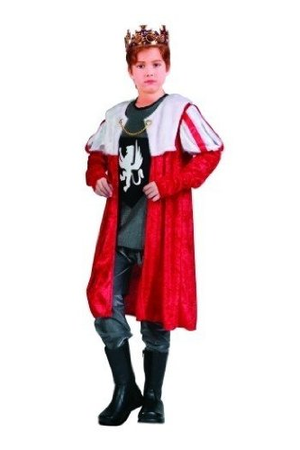 King Robe - Red w/ Sleeves, Child Medium Costume