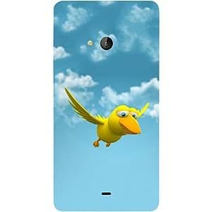 Casotec Bird Design Hard Back Case Cover for Microsoft Lumia 540