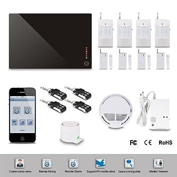 Floureon alarme maison sans fil gsm autodial h te d for Alarme maison iphone