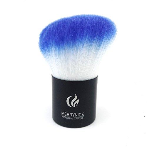 merrynice Blu Professionale Kabuki Buffer Face Loose Powder Blush Fondazione Strumenti Pennello trucco