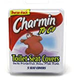 Charmin Travel Toilet Seat Covers 5 Pieces Clipstrip (Pack of 9)