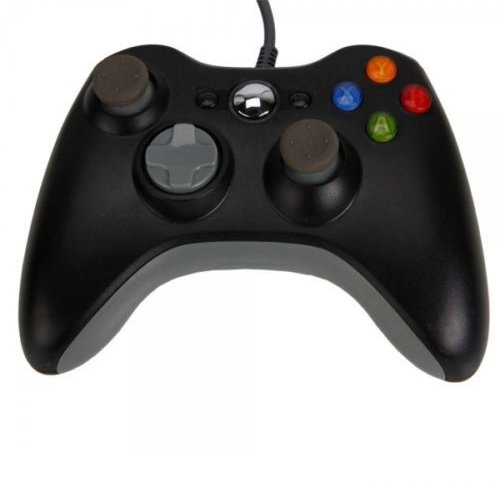 Ostent Wired Controller Compatible for Microsoft Xbox 360 Console PC Computer Video Game Color Black [Importación Inglesa]