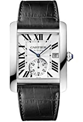 Cartier Men's W5330003 Tank MC Analog Display Automatic Self Wind Black Watch