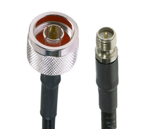 N-Type Male to RP-SMA Female Pigtail Cable MADE IN U.S.A. LMR-195 Ultra Low Loss Coax Cable for WiFi Antennas 20 inches