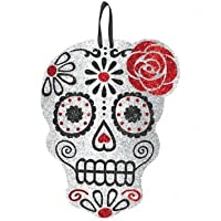 Sparkly Skull Decoration - Day of the Dead / Halloween by Grasslands Road