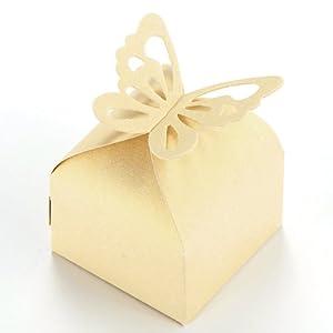 Wedding Favour Boxes Candy Gift Boxes 50pcs (Ivory): Amazon.co.uk ...