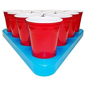 Go Pong N-Ice Rack Freezable Beer Pong Rack Set, Includes 2-Racks, 3-Balls and Rules