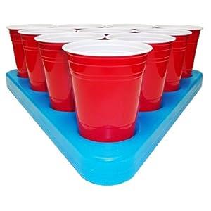Go Pong N-Ice Rack Freezable Beer Pong Rack Set, Includes 2-Racks, 3-Balls and Rules