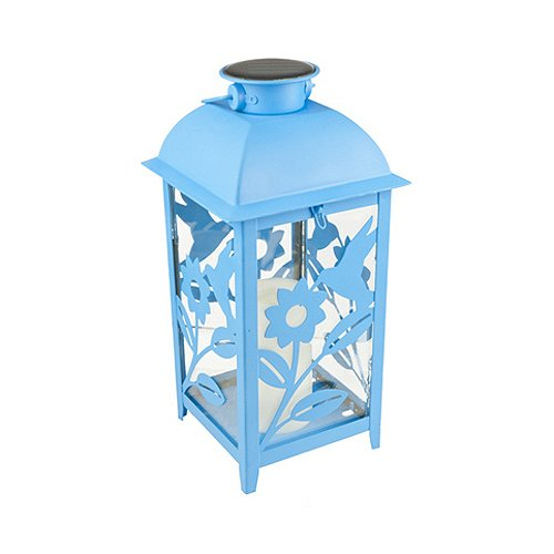 Northern Int'l GL28069BL Solar Latern, 11-Inch, Turquoise