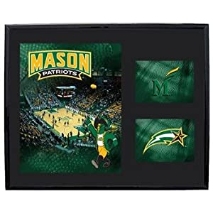 "George Mason Patriots GMU NCAA Basketball 11"" X 14"" Framed Logo Wall Hanging"