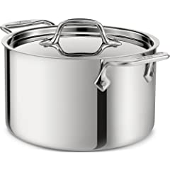 All-Clad 4304 Stainless Steel 3-Ply Bonded Dishwasher Safe 4-Quart Casserole with Lid... by All-Clad