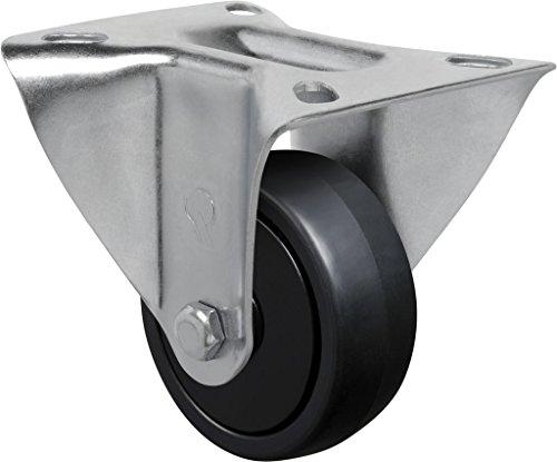 "Schioppa L12 Series, Fl 312 Nppe, 3 X 1-1/4"" Rigid Caster, Non-Marking Polypropylene Precision Ball Bearing Wheel, 150 Lbs, Plate 3-1/8 X 4-1/8"" (Bolt Holes 3-1/8 X 2-1/4"") front-397002"