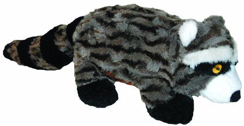 Patchwork Pet Swirl Racoon 15-Inch Squeak Toy for Dogs