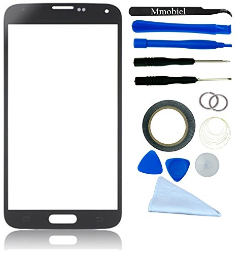 Samsung Galaxy S5 Sm-G900 I9600 Black Display Touchscreen Replacement Kit 12 Pieces Including 1 Replacement Front Glass For Samsung Galaxy S5 Sm-G900F / 1 Pair Of Tweezers / 1 Roll Of 2Mm Adhesive Tape / 1 Tool Kit / 1 Microfiber Cleaning Cloth / Wire