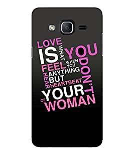 Evaluze LOVE QUOTE Printed Back Cover for SAMSUNG GALAXY ON5 2015