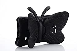 Galaxy Tab 4 7.0 Case, ER CHEN Protective Rubberise Butterfly EVA Foam Childproof Shockproof Cover Case Durable Light Weight Cute Cartoon Kids Case for Samsung Galaxy Tablet 4 7.0 T230 (Black)