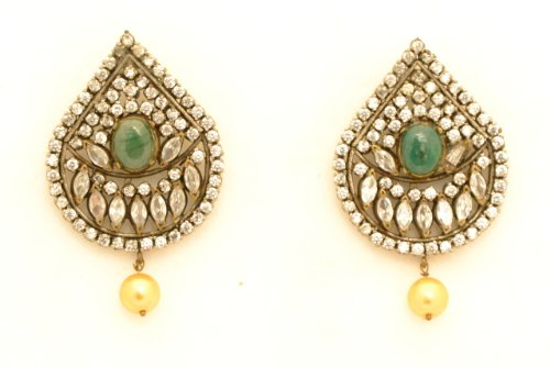 Fashion Balika Fashion Jewelry Gold-Plated Dangle & Drop Earring For Women Green-BFJER063 (Yellow)