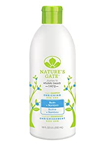 Nature's Gate Shampoo Biotin Strengthening Shampoo for Weak, Fragile and Thinning Hair, 18-Ounce Bottles (Pack of 3)